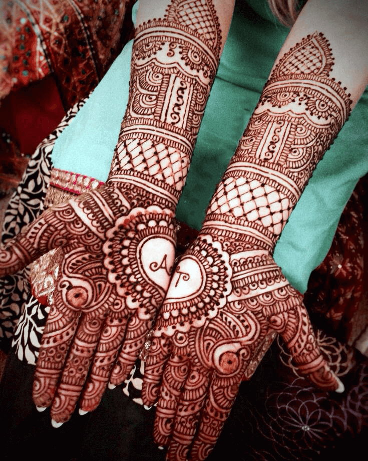 full hand mehndi design bridal