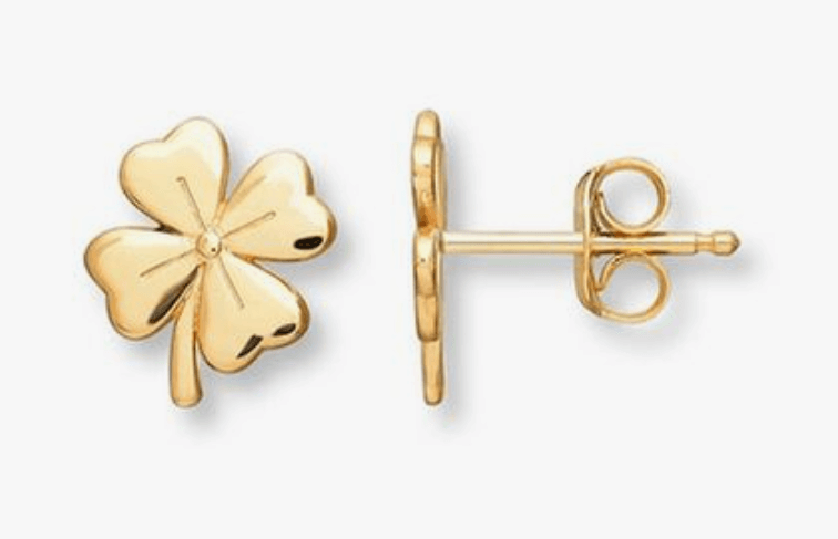 clover studs earrings design for daily use