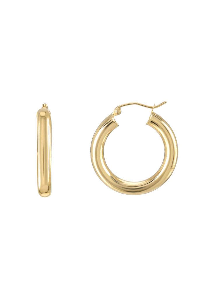 small huggie hoop earrings gold design