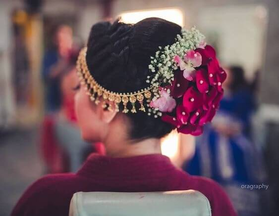 bridal hairstyle for girls