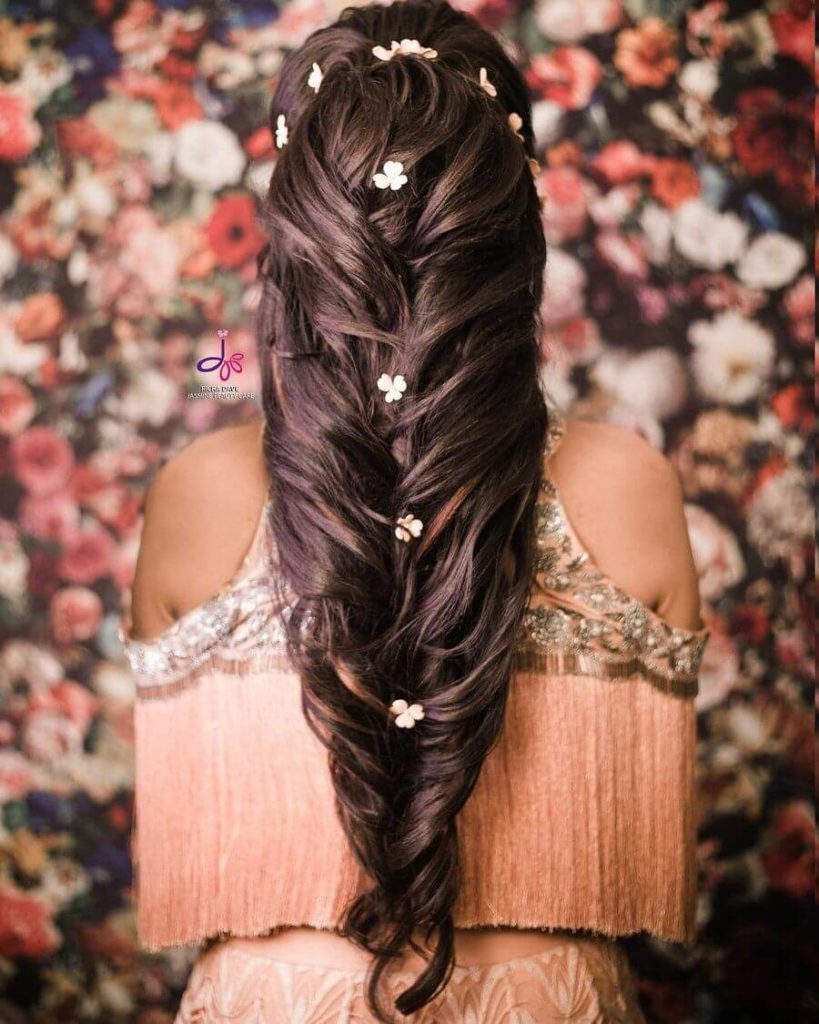 waterfall hairstyle for girls