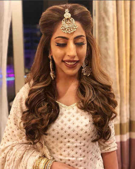 hairstyle for girls in wedding