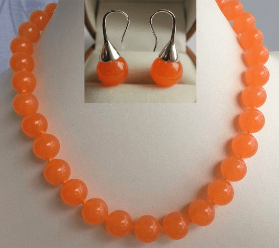 Orange Jewelry Jade