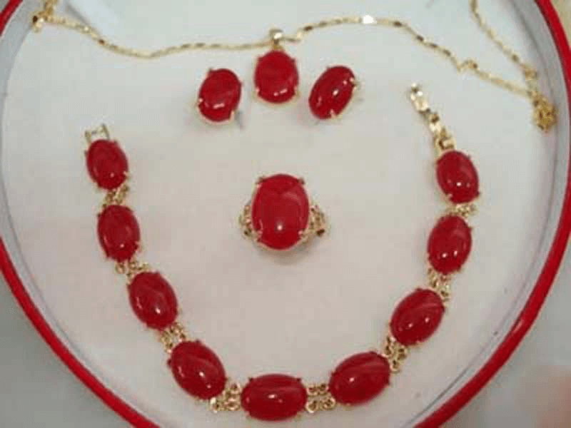 Red Jewelry Jade
