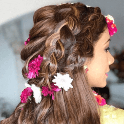 maang tikka hairstyle for bridal