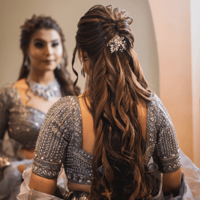 lehenga hairstyle