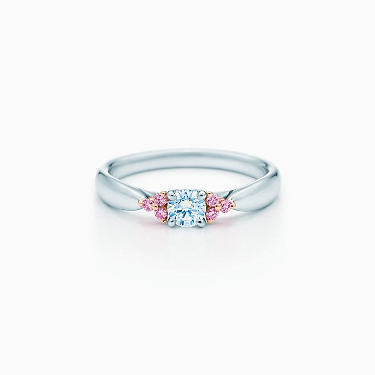 TIFFANY HARMONY RING WITH PINK DIAMONDS