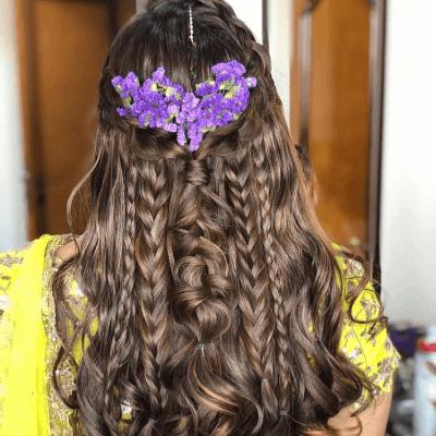 hairstyle in lehenga