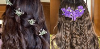 hairstyle for lehenga