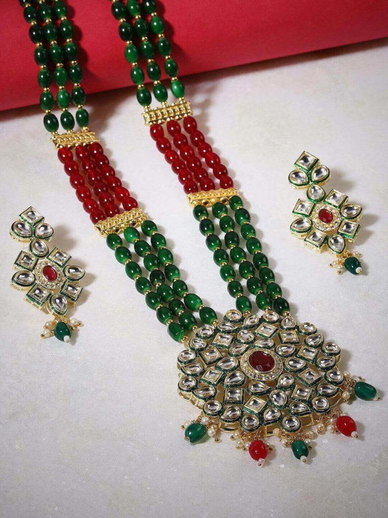 Kundan Necklace Set By GloBox By ZeroKaata: A Myntra Exclusive Brand
