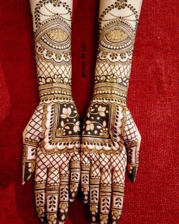 Bridal Mehndi Designs For Full Hands :