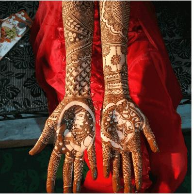 "12 Gorgeous Tattoo Mehndi Designs For ""The Bride"" & Bridesmaids 1"