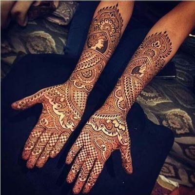 "12 Gorgeous Tattoo Mehndi Designs For ""The Bride"" & Bridesmaids 2"