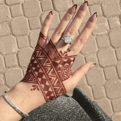 "12 Gorgeous Tattoo Mehndi Designs For ""The Bride"" & Bridesmaids 7"