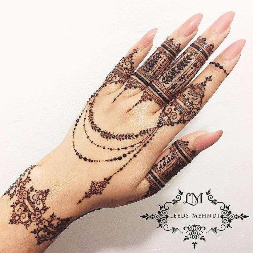 "12 Gorgeous Tattoo Mehndi Designs For ""The Bride"" & Bridesmaids 9"