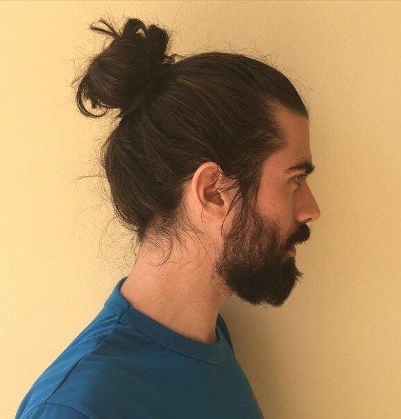men bun hairstyles