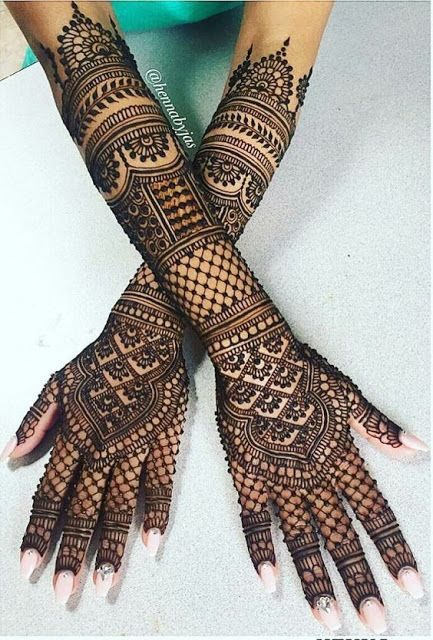 bridal mehndi designs full hands